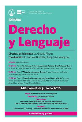 8/6 Jornadas «Derecho y Lenguaje»
