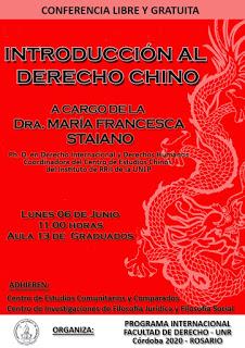 """6/6 Conferencia """"Introducción al Derecho Chino"""""""