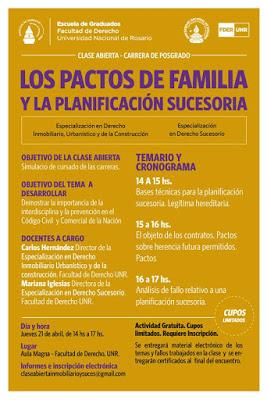 21/4 Conferencia sobre Planificación sucesoria