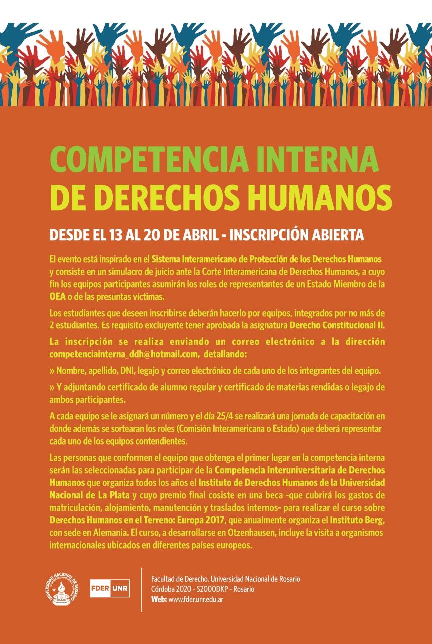 Inscripción Competencia Derechos Humanos
