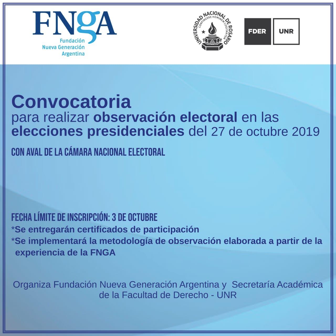 CONVOCATORIA PARA ACOMPAÑAMIENTO CÍVICO ELECTORAL