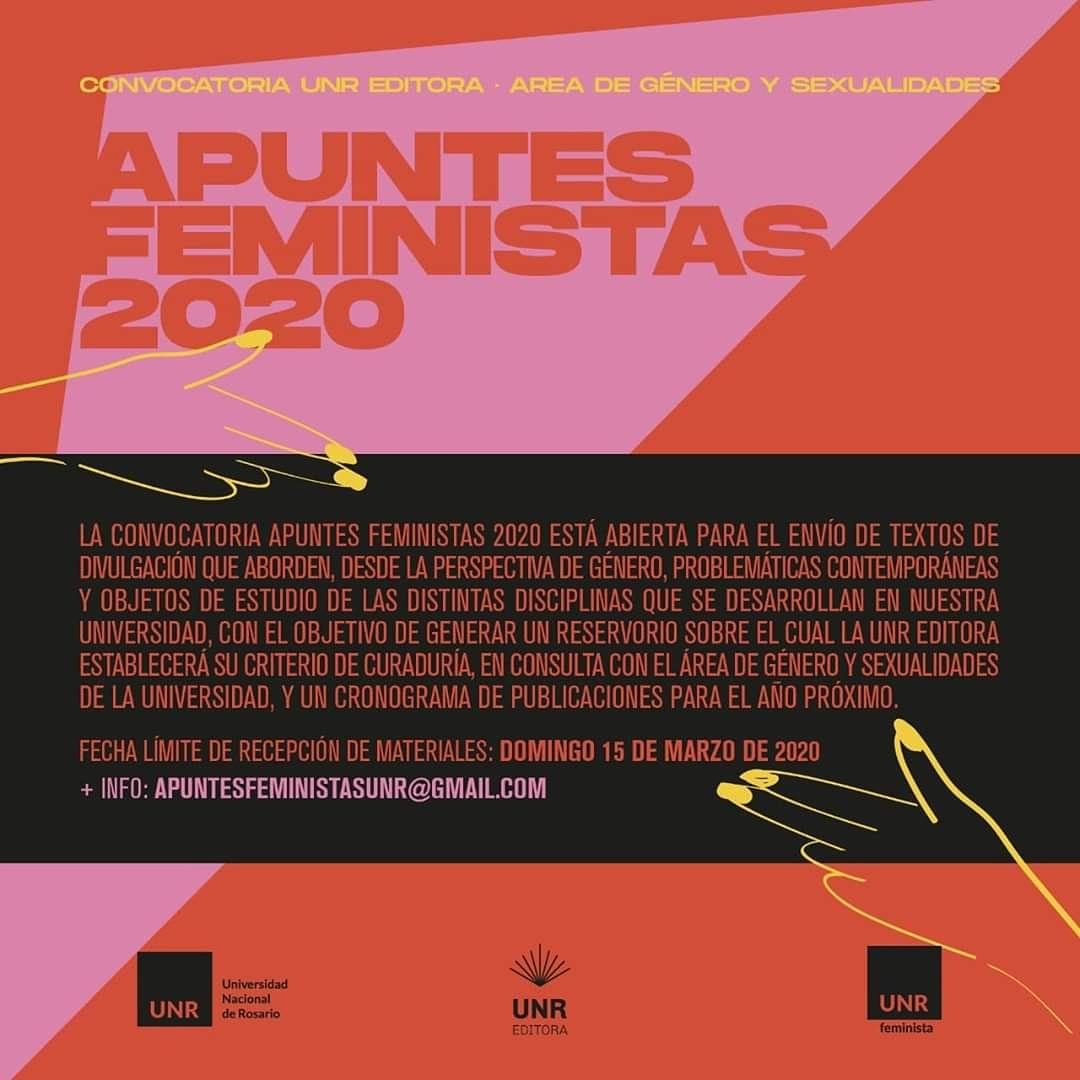 CONVOCATORIA UNR EDITORA:  APUNTES FEMINISTAS 2020