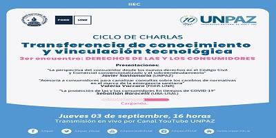 """3° ENCUENTRO DEL CICLO DE CHARLAS """"TRANSFERENCIA DE CONOCIMIENTO Y VINCULACIÓN TECNOLÓGICA"""""""