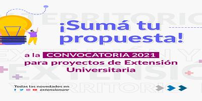 CONVOCATORIA 2021 – PARA PROYECTOS DE EXTENSIÓN – PRÓRROGA PARA LA CARGA ONLINE